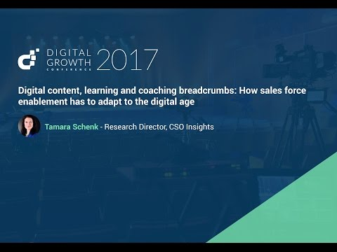 Digital content, learning and coaching: How sales force enablement has to adapt