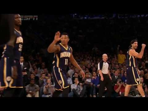 Roy Hibbert Goes Glass to Beat the Buzzer