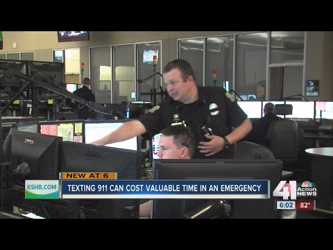 Texting 911 can see delays responding to emergencies