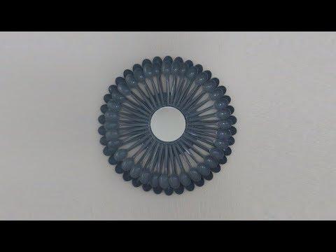 Plastic Spoon Sunburst Mirror DIY Wall Art
