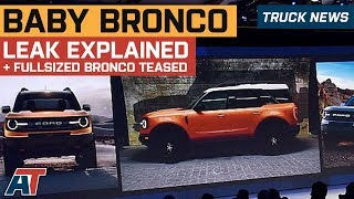 Ford Baby Bronco SUV Leak Explained & Full-Sized Ford Bronco Teased - Truck News
