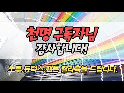 홈앤페인트 구독자 천명 이벤트  페인트 색상표 칼라북 노루페인트,듀럭스,팬톤컬러북