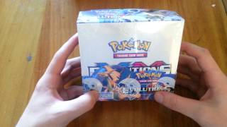 speed pokemon xy evolutions booster box fast opening 1