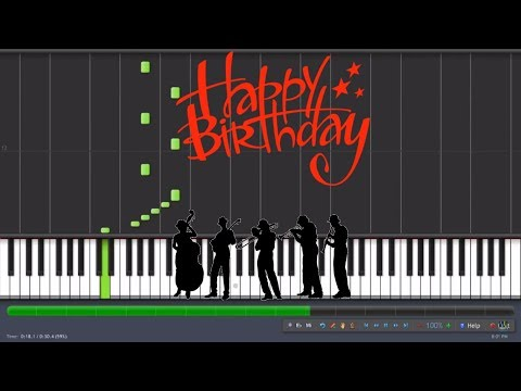 Happy birthday - Jazz version - piano tutorial