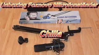 Unboxing / Ausgepackt Foxnovo Scherenarm Mikrofonständer [Auna Mic-900B]