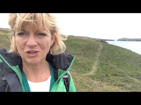 Wales Coast Path - near Gwbert and Cardigan Island