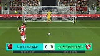 Flamengo x Independiente 13/12/2017 Disputa de Pênaltis | Final da Copa Sulamericana 2017 [PES 2018]