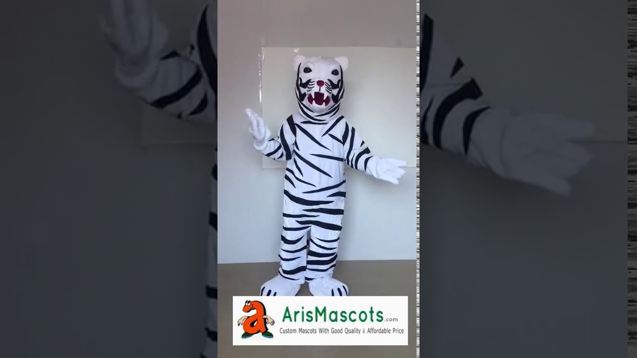 White Tiger mascot costume-create a mascot & White Tiger mascot costume-create a mascot - YouTube