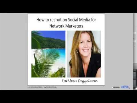 How to Recruit on Social Media for Network Marketers with Top Earner Kathleen Deggelman