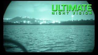 Bioluminescent Bay Puerto Rico through Night Vision - Gen 3 Filmless White Phosphor