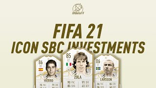 ICON SBC'S ANNOUNCED! ICON, FODDER  & OTW FIFA 21 INVESTING