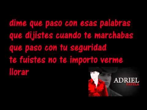 Mil Lagrimas-Adriel Favela[[2011]]..con letraa  . Espinoza Paz
