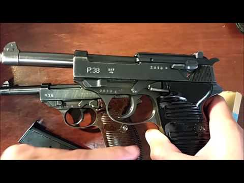 German WWII P.38 pistols. 1944 Walther & Mauser