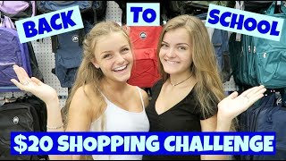 Back to School $20 Shopping Challenge ~ Jacy and Kacy