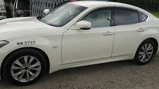 Видео-тест автомобиля Nissan Fuga (KY51-203408, Vq37vhr, белый, 2010г)