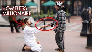 Homeless Millionaire Prank - Would You Help