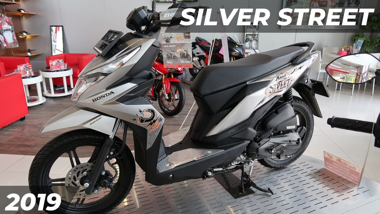 Warna Baru Lagi Silver Street Honda Beat Street 2019 Youtube