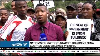 UPDATE: Nationwide protests against President Zuma