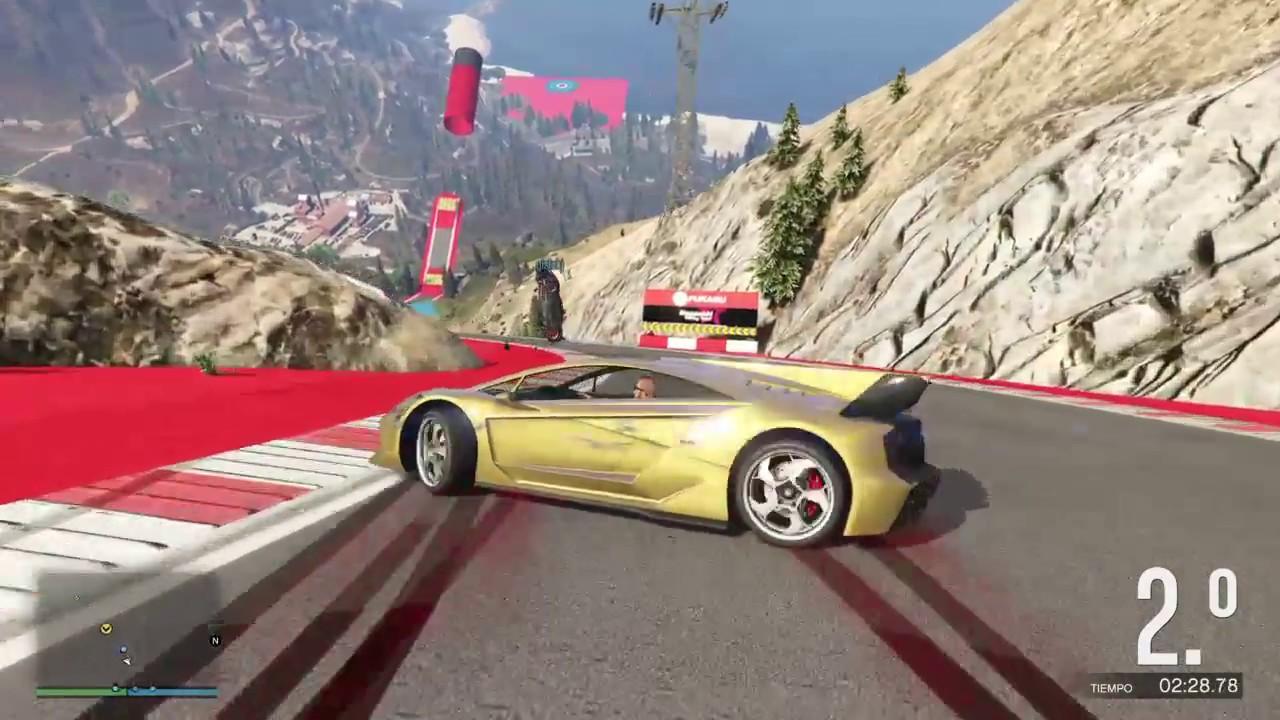 Carrera Online Con El Zentorno Dorado Youtube
