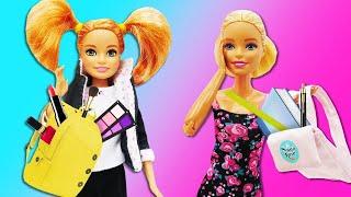 Видео с куклами. К Барби приехала сестра Стейси! Игры одевалки для девочек.