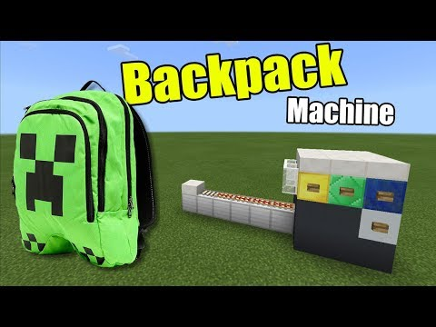 How To Make A BACKPACK MACHINE | Minecraft PE