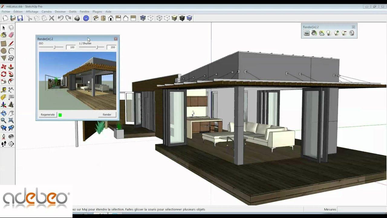 exceptionnel logiciel rendu sketchup gratuit 8 twilight. Black Bedroom Furniture Sets. Home Design Ideas