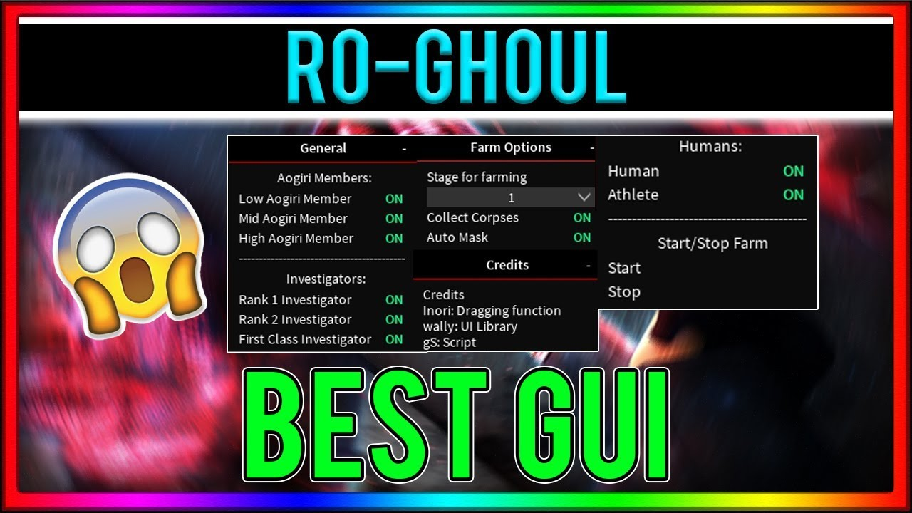 Working Roblox Hack Ro Ghoul Fastest Autofarm Best Gui