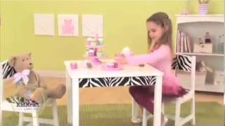 Kidkraft - Fun And Funky Wooden Childrens Table And Chair Set Kids Furniture