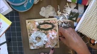 Graphic 45 Gilded Lily Card & Bonus Flower Tutorial