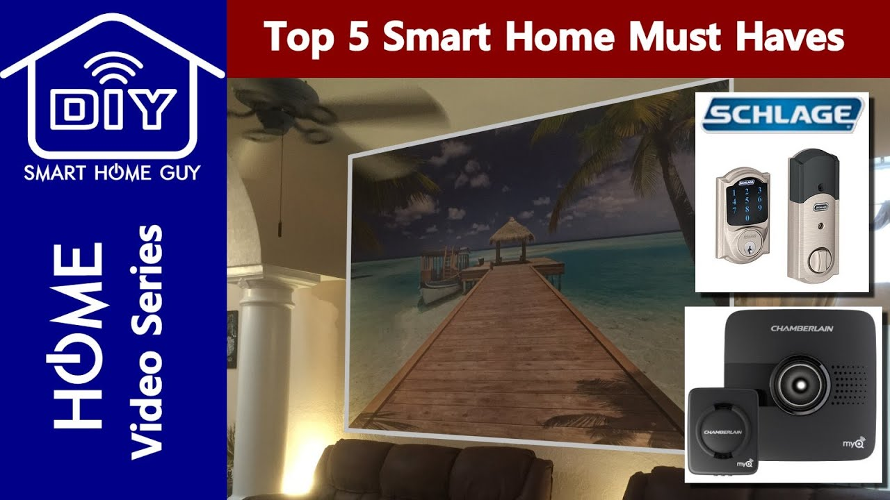 top 5 smart home must have gadgets your diy home of the future through automation youtube. Black Bedroom Furniture Sets. Home Design Ideas