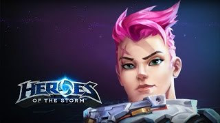 ♥ Heroes of the Storm (A-Z Gameplay) Zarya (HoTs Quick Match)