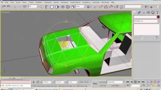 Как вырезать отверстие  в капоте в 3DsMax