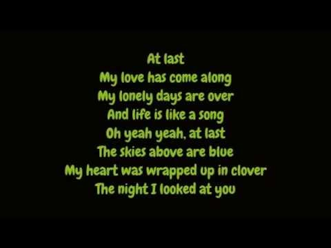 Etta James - At Last (Lyrics HD)