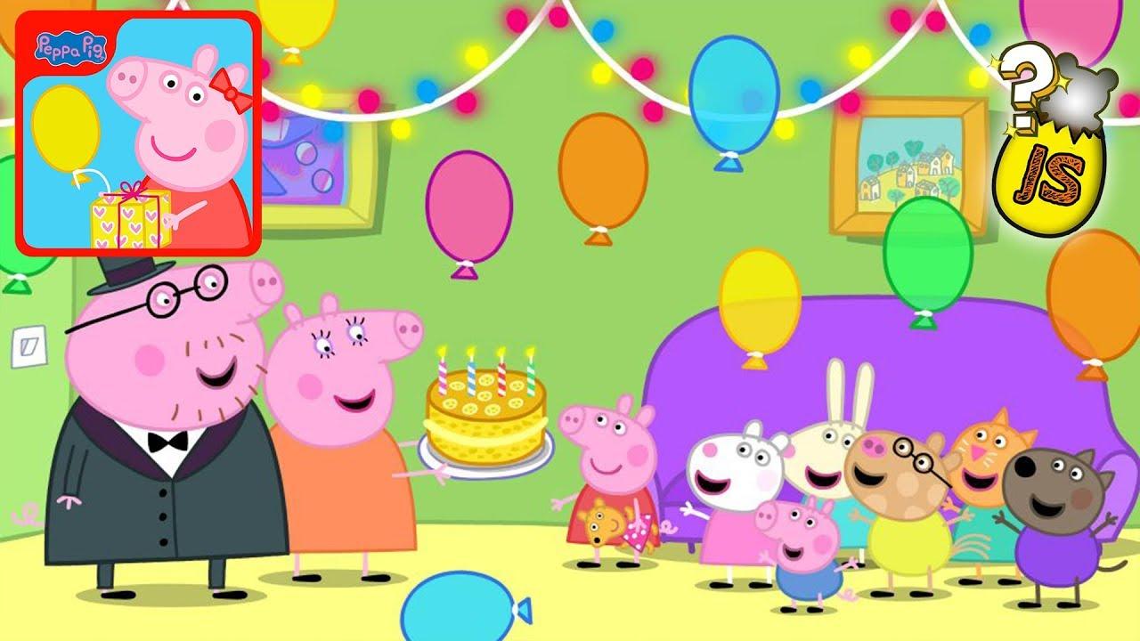 Fiesta De Cumpleaños De Peppa Pig En Español Castellano Videos De Juegos Para Niños Youtube