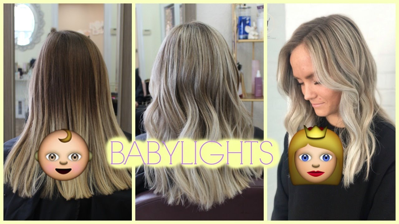 Babylights Tutorial Lifting Two Toned Hair Evenly Youtube