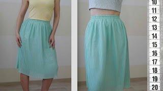 видео Как сшить плиссированную юбку