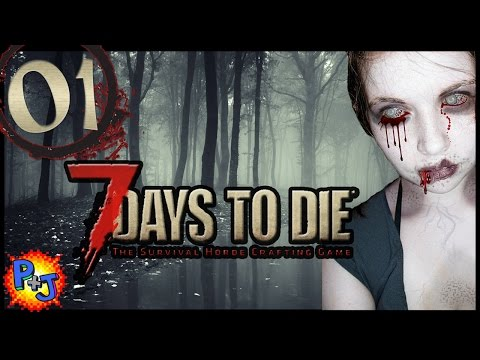 Let's Play 7 Days to Die Split-Screen Co-op PS4 Gameplay: Part 1 Day 1 (P+J)