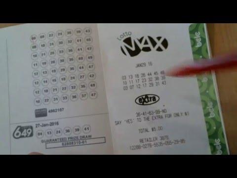Canada Lotto Max - 60 million - Jan 29, 2016