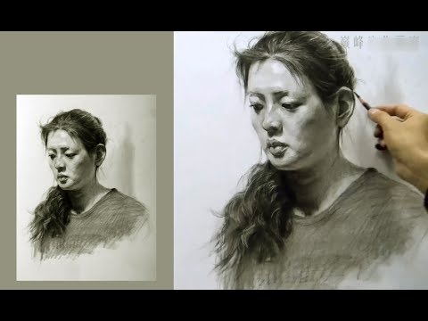 girl-portrait-drawing-in-graphite-pencil