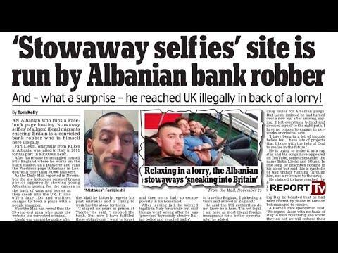 Report TV - Daily Mail: Fari Lleshi nga grabitës banke në Itali, rrepist në Londër