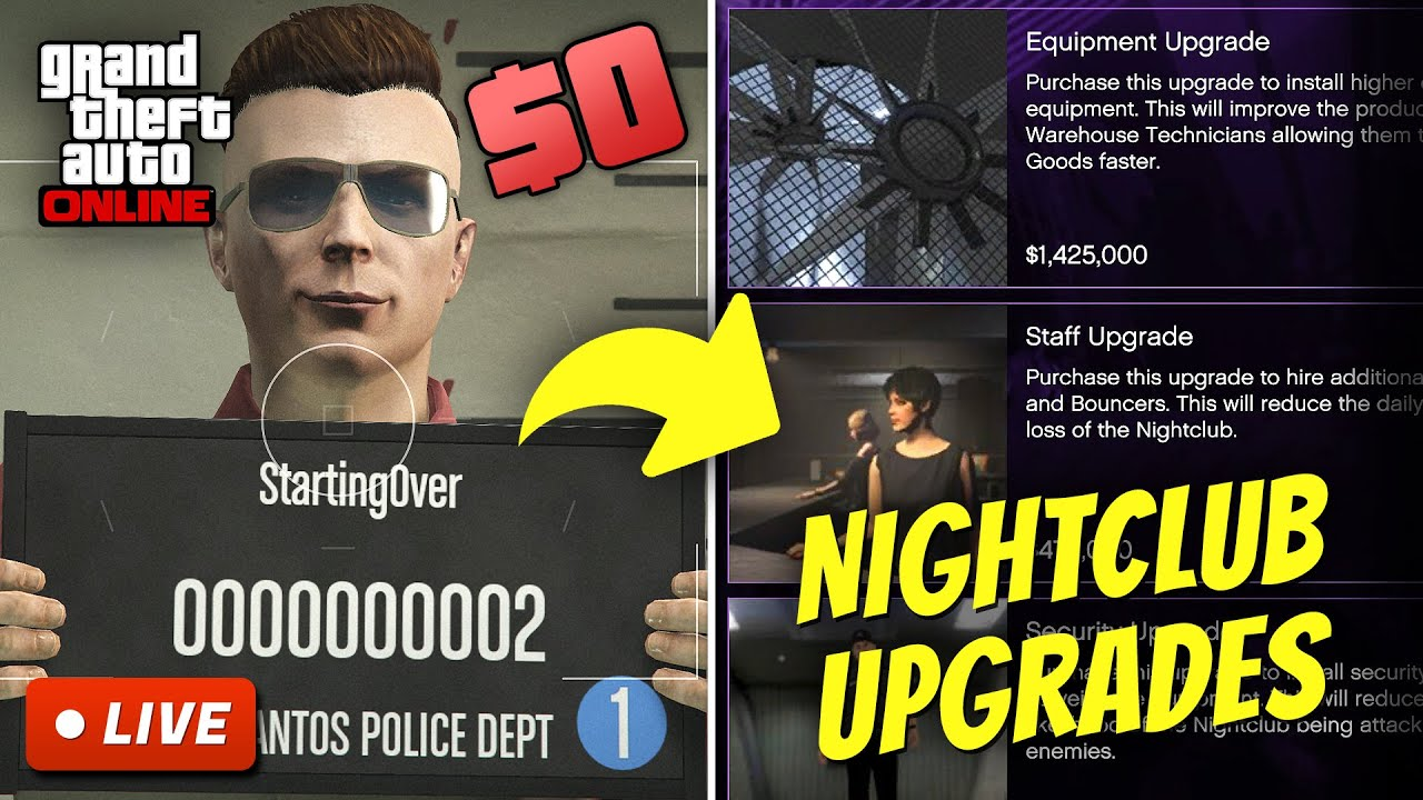 Starting from Botom in GTA 5 Online   BROKE TO RICH S2E8 (Nightclub Upgrades)