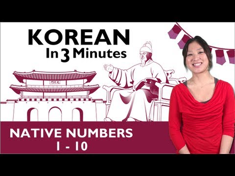 Learn Korean  Korean in 3 Minutes  Native Numbers 110