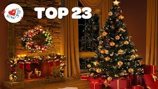 Fireplace with Christmas Songs and Carols Playlist | Top 23 Merry Christmas