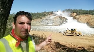 Oroville 17 March Spectacular Re-Opening of Main Spillway