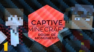 CAPTIVE MINECRAFT EP 1: Stuck With This Jag! (Captive Minecraft Room of Monuments w/ Mitch)