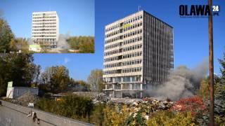 Próby wysadzenia wieżowca (BOT) fabryki JELCZ [17.10.2012 Jelcz-Laskowice]