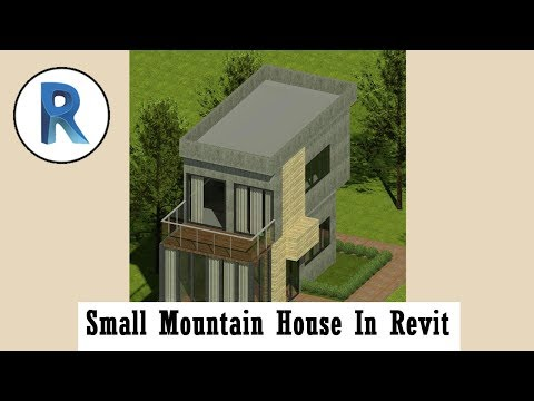 Revit Complete Project #13 | Small Mountain House In Revit Part 1