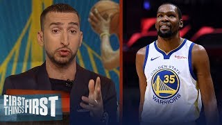 Kevin Durant leads Warriors to Game 3 win - Nick Wright reacts | NBA | FIRST THINGS FIRST