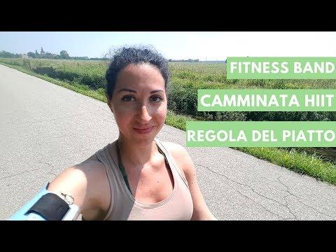 Vlog aggiornamenti: regola del piatto,  camminata hiit e fitness band
