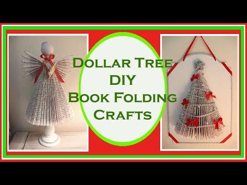 Book Fold Christmas Decor Tree And Angel Dollar Tree DIY - Christmas Decor 2019